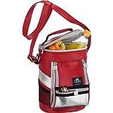 Alfi Be Cool - Nevera porttil estilo mochila (8 L), color plateado y rojo