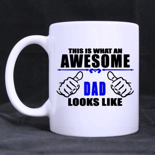 Super shining Tag-Geburtstag Geschenk Vater 's Day Geschenk Dies ist, was ein Awesome Dad Looks Like weiß Keramik Material Kaffee Tasse-313ml sizes-two Seiten