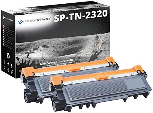 Preisvergleich Produktbild 2 Schneiderprintware Toner Ergiebigkeit: ca. 5.400 Seiten | ersetzt TN-2320 für Brother Multifunktionsdrucker , Laserdrucker |  kompatibel | Farbe: Schwarz passend für : Brother DCP-L2500D , DCP-L2520DW , DCP-L2540DN , HL-L2300D , HL-L2340DW , HL-L2360DN , ,