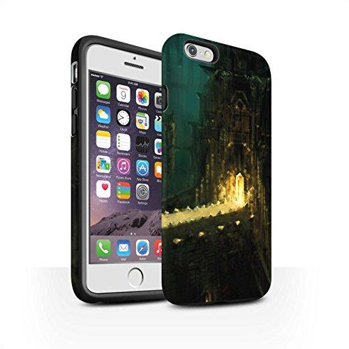 Offiziell Chris Cold Hülle / Matte Harten Stoßfest Case für Apple iPhone 6S / Baum des Wissens Muster / Gefallene Erde Kollektion Dragonfel Tempel
