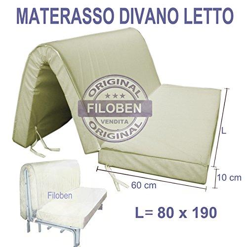 Materasso divano letto singolo 80x190 h10 ecosan poliuretano