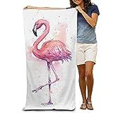 recxtuy Ölgemälde Flamingos schnelltrocknend, Strandtuch, Pool, für Kinder und Erwachsene, für Kinder