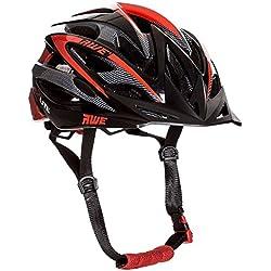 AWE AeroLite - Casco de ciclismo para adulto, 58-61 cm, color negro/rojo