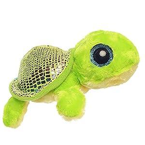 Aurora World Flippee la Tortuga Yoohoo and Friends-Sealife-Peluche (Tamaño pequeño), Color Verde/Verde Claro