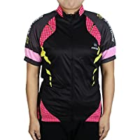 sourcing map XINTOWN Authorized Women Outdoor Sports Short Sleeve Bicycle Cycling Jersey