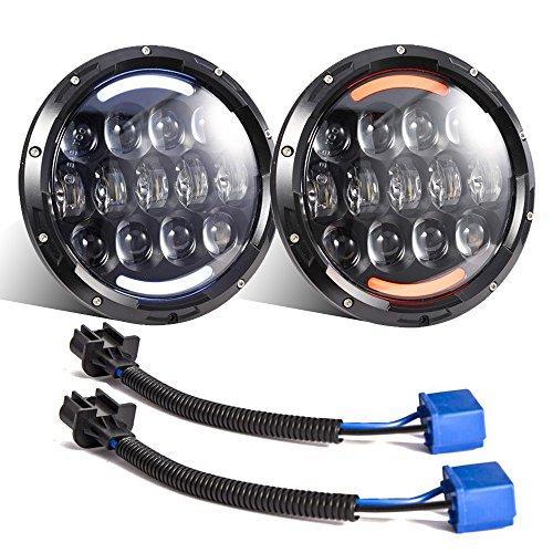 Esyauto - 2 fari a LED Osram bianco/ambra 105 W OSRAM 17,8 cm rotondi per freccia, DRL
