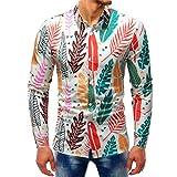 YunYoud Fashion Printed Bluse beiläufige lange Hülsen-dünne Hemd-Oberseiten online hemden bestellen marineblau hemd graues herren modische männer weiß schwarz langarm