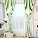 Verdunkeln wärmeisolierendem Verdunklungsvorhänge, Sichtschutz Fenster Vorhang Panel Top Pocket Solid Drapes Draperie Set für Schlafzimmer Wohnzimmer, grün, 150X250cm Ein Stück