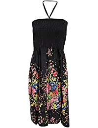 Universal Textiles Ladies/Womens Floral and Leaf Printed 3 In 1 Summer Dress/Skirt