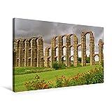 Premium Textil-Leinwand 75 cm x 50 cm quer, Aquädukt von Mérida | Wandbild, Bild auf Keilrahmen, Fertigbild auf echter Leinwand, Leinwanddruck: Extremadura (CALVENDO Orte) - LianeM