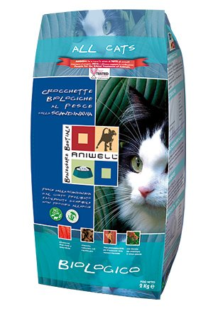 Aniwell – Croquettes Chats biologiques au poisson de la Scandinavie, Sac de 2 kg