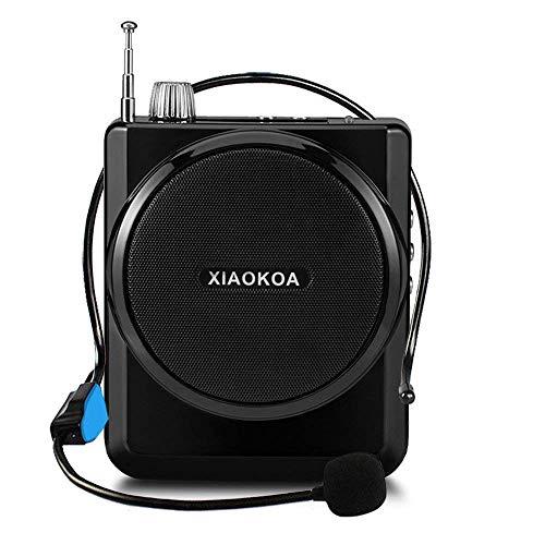 XIAOKOA Amplificatore vocale microfonAmplificatore vocale ricaricabile1800mAh con microfono per guide turistiche, insegnanti, allenatori, presentazioni, costumi Supporto FM / MP3 / TF/SD Card
