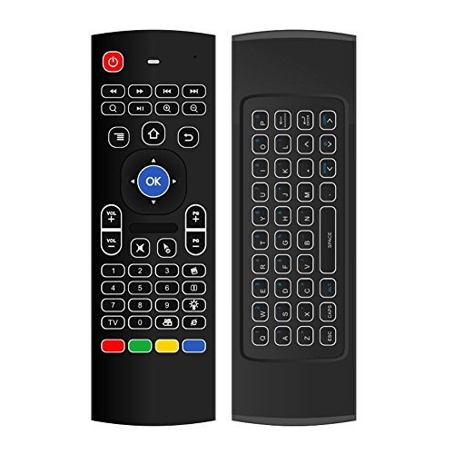KOUDOU 2.4G Air Mouse MX3 Backlit Infrared Remote Control Mini Keyboard Custom Control Für Ps3