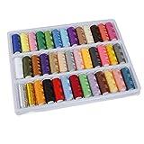 Romote KINGSO 39 rotoli assortiti bobine di filo cotone di colori per macchina da cucire a mano
