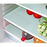 """Fridge Drawer Mat / Refrigerator Mat Set Of 6 Pcs (17*12"""" Inches)(White)By Style Your Home"""