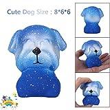 Prime Day 2018 Squishies Spielzeug,Beikoard 1PC Cute Dog langsam Steigende Sammlung Squeeze Stressabbau Spielzeug DekompressionSpielzeug (Blau)