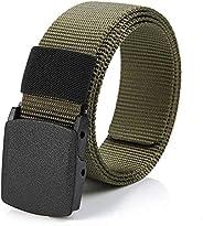 Canvas Belt Men's Belt Webbing Canvas Outdoor Web Belt With Nylon Plastic Bu