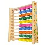 Qiyun Geburtstagsgeschenk Geschenk, Abachi,Abaco Regenbogenballen, Holzspiele erste Kindheit Mathematik Lernspiel für Kinder 3 Jahre,