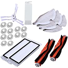 SODIAL Adecuado para Xiaomi Roborock S50 S51 Aspiradora Recambios Kits Trapos de Limpieza Trapeador Húmedo Filtro