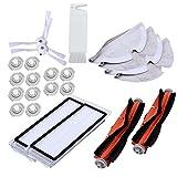 XZANTE Adecuado para Xiaomi Roborock S50 S51 Aspiradora Recambios Kits Trapos de Limpieza Trapeador Húmedo Filtro de Cepillo Lateral Cepillo de Rodillo Roll 23Pcs