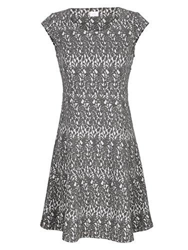 Alba Moda Damen Kleid Grau 38