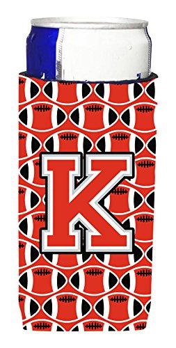 letra-k-de-futbol-rojo-y-gris-michelob-ultra-koozies-para-latas-delgado-cj1067-kmuk