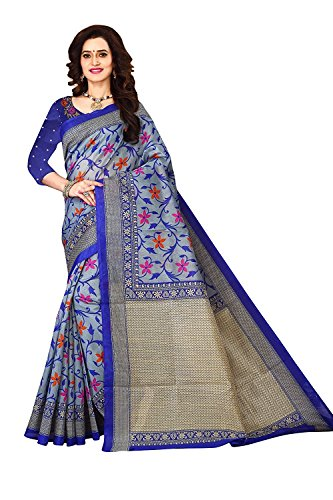 Dheylu Creation Art Silk Bhagalpuri Saree (Superiya blue low prise saree)