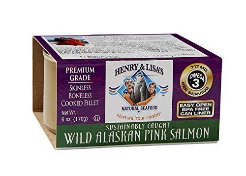 Henry & lisa's natural seafood - salmone rosa selvaggio dell'alaska di qualità superiore - 6 once