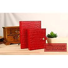 DADAO-Caja de almacenamiento, pendientes pendientes, colección de libros, originalidad, joyero,rojo grande