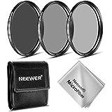 Neewer Kit de 58 MM filtro ND (ND2 ND4 ND8) + paño de limpieza para NIKON 18-55 mm f/3.5-5.6G ED AF-S DX, 55-200 mm f/4-5.6G ED IF AF-S DX VR, lente de CANON EF-M18 - 55 mm es STM, PENTAX 18-55 mm F3.5-5.6AL de lente
