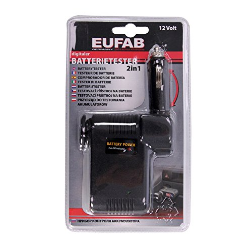 EUFAB 16620 Batterie-Tester 12V digital