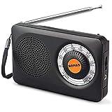 Radio Portable Transistor Batterie Radio Mini FM AM Radio de Poche Haut-Parleur avec Son Clair Mini Récepteur Dsp Digital Tuning,...