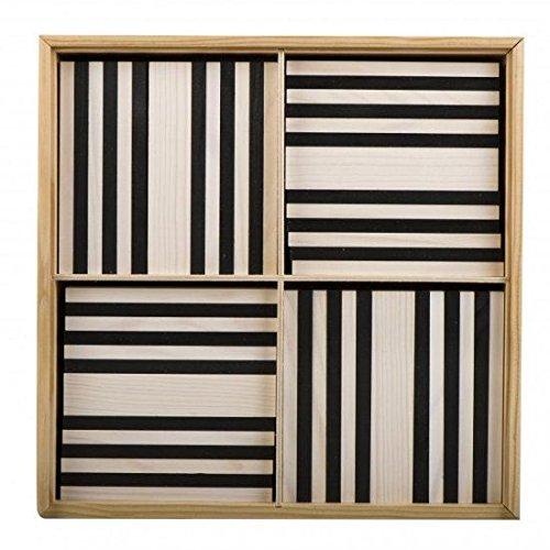 KAPLA B100NB Holzplättchen, 100er Box schwarz/weiß