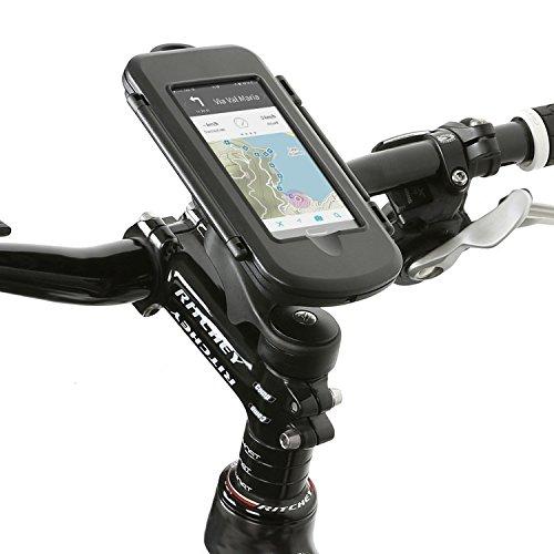 Wicked Chili Smartphone Splash Box M Fahrrad Vorbau Universal Halterung für Smartphone (max. Handy Maße: 145 x 78 x 13.4 mm, Spritzwasserschutz IPx4, Antireflexive Folie, Made in Germany)