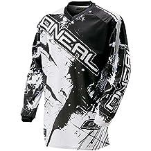 ONeal Element Shocker - Maillot manches longues - blanc/noir Modèle S 2017 tee shirt manches longues homme