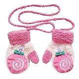 Cosanter kinder Baby Handschuhe Fäustlinge aus Plüsch Schön kinder Mädchen Junge Blatt Winter-warmen Handschuhe Rose