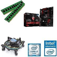 One - Kit de actualización completo para ordenador (Intel Core i7-4770K Haswell, 4 x 3,50 GHz, placa base: MSI Z87-G45, memoria de trabajo: 4 GB: 1 x 4096 MB de RAM DDR3, 1333 MHz) 16384 MB de memoria DDR3 Sin tarjeta gráfica