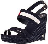 Tommy Hilfiger Th Round Hardware High Wedge, Women's Fashion Sandals