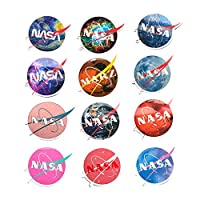 ‏‪NASA Laptop Stickers Vinyl Waterproof - 12 Pack Decals Suitable for Water Bottle Car Motorcycle Bicycle Bumper Skateboard Helmet Luggage Phone Case DIY Decoration Gift [No-Duplicate]‬‏