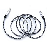 #9: Shadow Securitronics Nylon Braided Original Type C To Usb A 3 Ft Long (Google Qualified Passes Check R)And Tough Cable For Oneplus / Oneplus 2/Huawei Honor Magic/ Nexus 5X/ Nexus 6P/Le Eco Le 2/ New Macbook/Chromebook Pixel/Gionee S6/Meizu Pro 5/ Xiaomi Mi 4C/ Xiaomi Mi 5/ Leeco Le 1S/Leeco Le 2/ Le 2 Pro/Leeco Le Max 2/ Nokia N1 Tablet And Many More Type C Devices – Gray Braided – 3feet