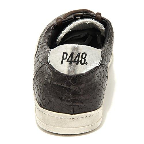 9855G sneakers uomo nere P448 python scarpe shoes men Nero