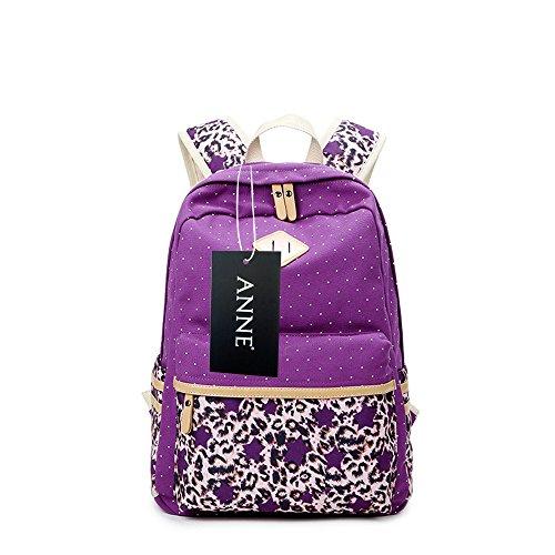 Anne , Damen Rucksackhandtasche schwarz violett Violett