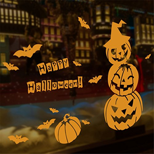 ive Wandtattoos & Wandbilder Halloween Wall Sticker Fensterdekoration Wandaufkleber clown Halloween Kürbis Wall Sticker (Kürbisse Halloween Wallpaper)