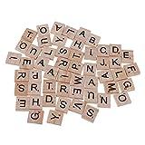 silveroneuk Sperren 100pcs Alphabet, 26englische Buchstaben, mit Holzspäne-Spielzeug