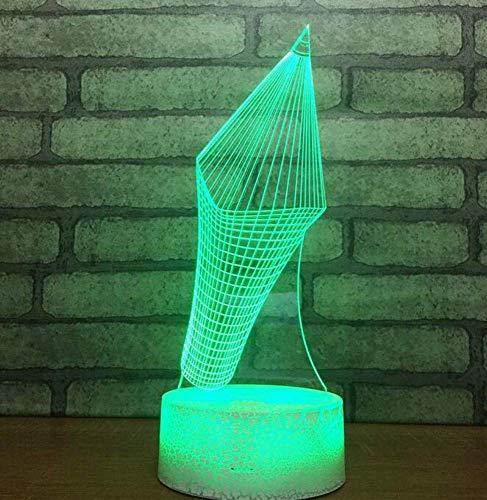 QiXian Nachtlicht Wandleuchte Led Lampe Bunte Note Led Atmosphäre 3D Lampe Schlafzimmer Tisch 3D Nachtlichtschalter Weiße Basis Schöne USB Led Lampe für Küche Schlafzimmer Wohnzimmer -
