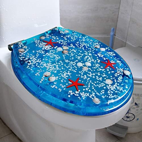 Copriwater sedile wc universale, cerniera a led regolabile regolabile in acciaio inox sgancio rapido coperchio coprivaso fisso di alta qualità, design ergonomico, bagno di famiglia