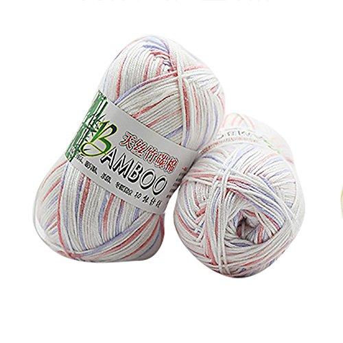 sunnymi 50g 1.2mm DIY Wolle Super Soft Baby Milk Cotton Wool Häkeln Hand Stricken Bunt Milch Baumwolle Geschenk Garn Strick Wolle Pullover Hüte Schals Decke (C, 1.2mm) Hand Stricken Baby Pullover