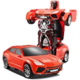 The Flyers Bay One Button Transforming Car Into Robot With Cool Dance Features, Red Ceyenne