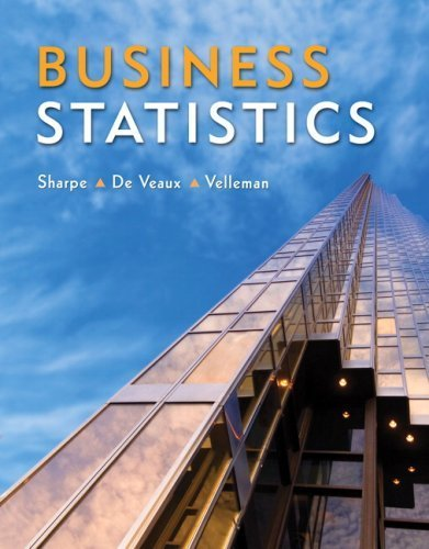 Business Statistics by Norean R. Sharpe (2009-02-02)