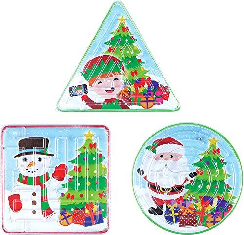 Henbrandt Weihnachtspuzzles Labyrinth 6 Stück, 4-6 cms